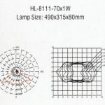Lampu LED PJU Hinolux HL 70 Watt