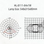 Lampu LED PJU Hinolux HL 84 Watt