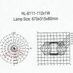 Lampu LED PJU Hinolux HL 112 Watt