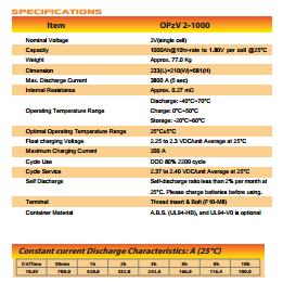 NS Accelerate Seri OPzV 2 1000 Tubular Battery