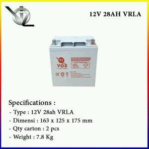 Baterai VOZ 12V 28AH GEL Murah